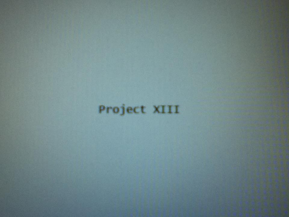 Project XIII: Video Game